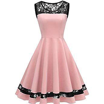 Zeagoo Womens 3 4 Sleeve Vintage 1950s Retro Rockabilly Prom Tea Dress