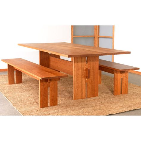 Modern American Dining Table | Solid Wood Dining Room Table | Made in America