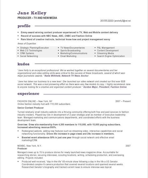 TV New Media Producer-Page1 Useful Pinterest Free resume and - digital content producer sample resume