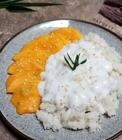 Resep Mango Sticky Rice Ketan Mangga Oleh Dapurvy Resep Resep Makanan Makanan Mango
