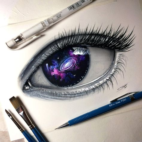 Here's my mixed media painting of a Galaxy Eye! Time lapse video:www.youtube.com/watch?v=arX38p…; Let me know what you think. Thanks!