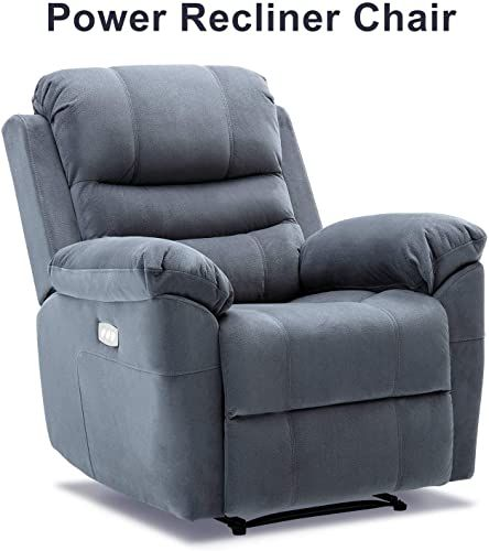 New Bonzy Home Power Recliner Chair Headrest Lumbar Support Adjustable With Three Motors Overstuffed Velve Recliner Chair Power Recliner Chair Reclining Sofa Small recliners with good back support