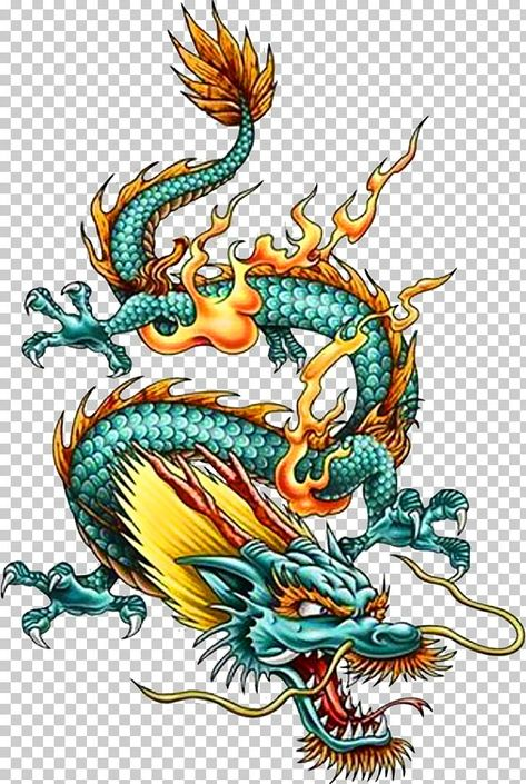 China Chinese Dragon Tattoo Legendary Creature PNG - Free Download