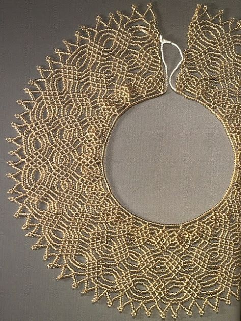how to make beaded lace necklace tutorial