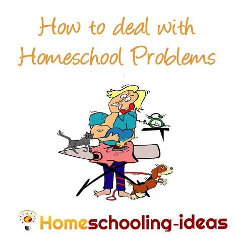 How to deal with #homeschool problems from www.homeschooling-ideas.com