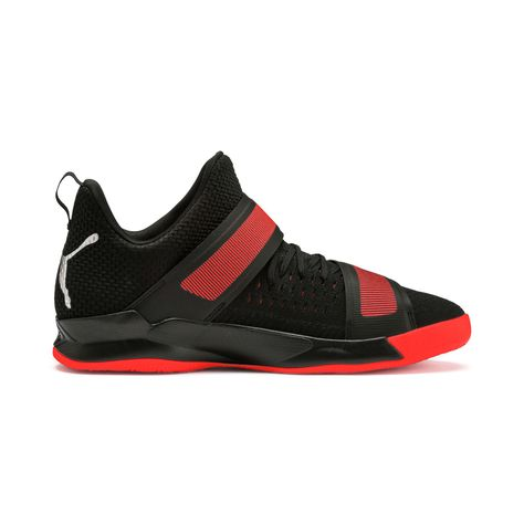 PUMA Rise Xt3 NetFit Handball Shoes in Black/Silver/Red size 11.5