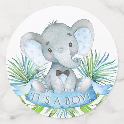Elephant Baby Shower Table Confetti