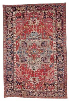Heriz Carpet Northwest Persia Last Quarter 19th Century Approximately 17 Ft 2 In X 11 Ft 11 In 523 Antique Persian Carpet Rugs On Carpet Persian Carpet