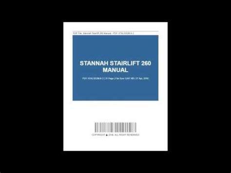 Stannah Stairlift 260 Manual Manual Owners Manuals Repair Manuals