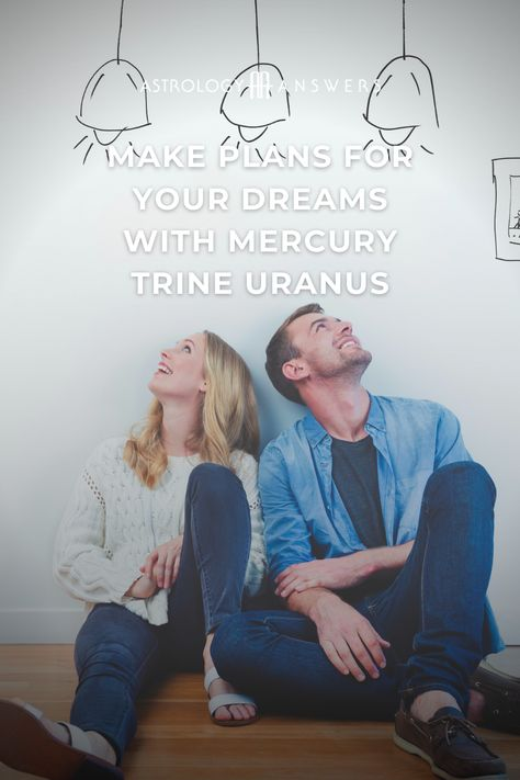 Today, we get some help with setting up our 2021 dreams with a new beginnings transit: Mercury trine Uranus. #astrology #astrologynewyear #astrologytransits #mercurytrineuranus #mercuryastrology #uranusastrology #trine