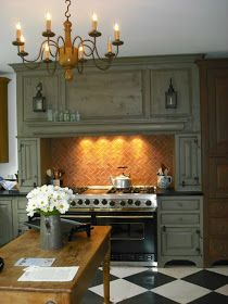 Decorating With Checkerboard And Harlequin Patterns Timeless Kitchen Country Kitchen French Country Kitchens