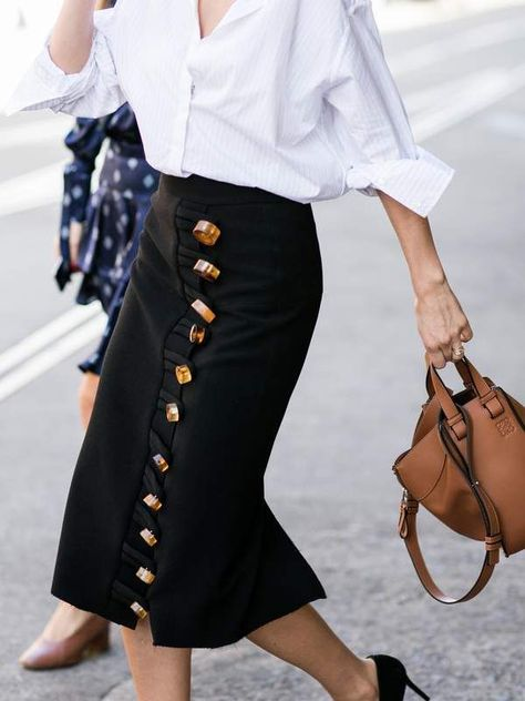 The micro trend: Button-down skirts