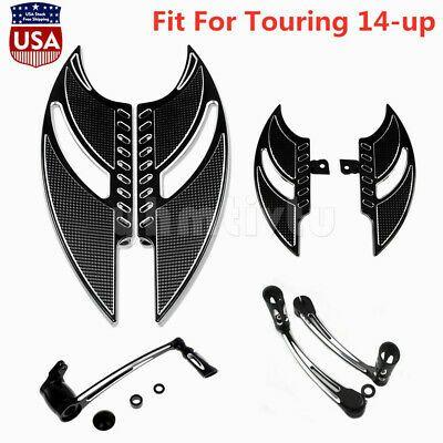 F/&R Driver Floorboard/&Heel Toe Shift/&/&Pedal/&R Passenger Mount For Harley Touring