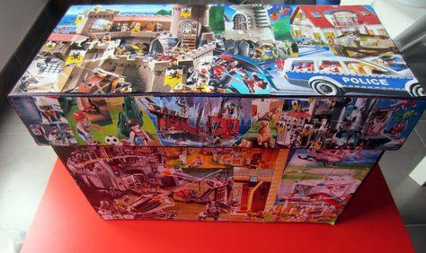 Caja Para Guardar Playmobil Cajas Manualidades