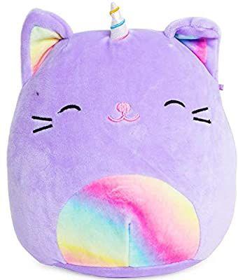 Amazon Com Squishmallows Tabby Cat Unicorn Plush 8 Inch Purple Rainbow Toys Games Purple Stuffed Animals Unicorn Plush Plush