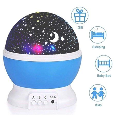 2018 Newest Baby Night Light Ananbros Remote Control Star Projector Rotating Constellation Night Light 9 Color Options Best Night Lights Star Night Light Night Light Projector Baby Night Light