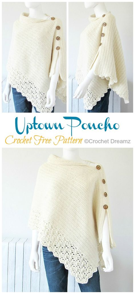 Mom and Me Poncho Crochet Free Pattern - Crochet & Knitting Mom . Mom and Me Poncho Crochet Free Pattern – Crochet & Knitting Mom and Me Poncho Cro Crochet Cape Pattern, Poncho Crochet, Poncho Knitting Patterns, Free Pattern, Crochet Patterns, Shawl Patterns, Free Knitting, Crochet Vests, Beginner Knitting
