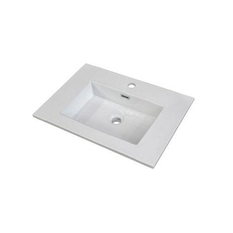 Plan Vasque Simple Stormashley Céramique 61 Cm Sensea