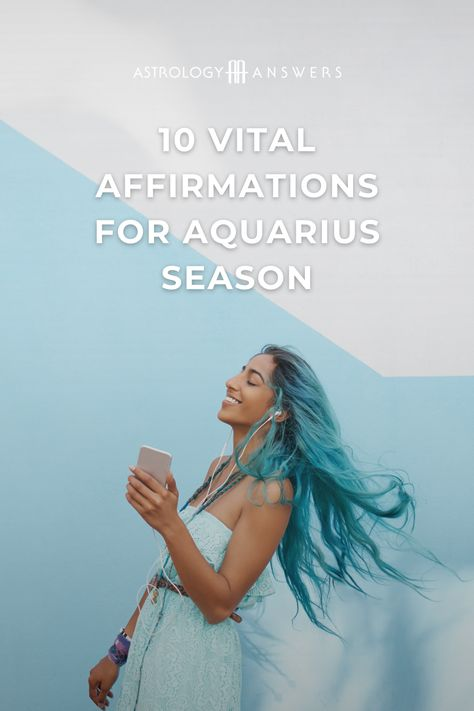 It's time to vibe with Aquarius! No matter what sign you are, these affirmations can help everyone align with Aquarius season and all of its beneficial energy. #aquarius #aquariusaffirmations #astrology #astrologyaffirmations #aquariusseason #affirmations #astroaffirmations #aquariusmantras