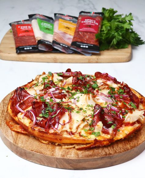 Pizza + burrito = this epic Pizzarito, made with D'Orsogna Deli Fresh sliced meats.