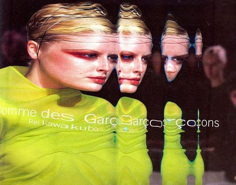 Scan Reject Of Comme Des Garcons Spring 1997 Campaign Layout