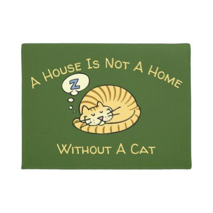A House Is Not A Home Without A Cat Cartoon Doormat Zazzle Com