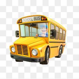كرتون باص المدرسة Cartoon School Bus School Bus Bus