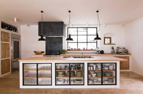 küchen selber planen kücheninsel holz ideen Pinterest Lofts