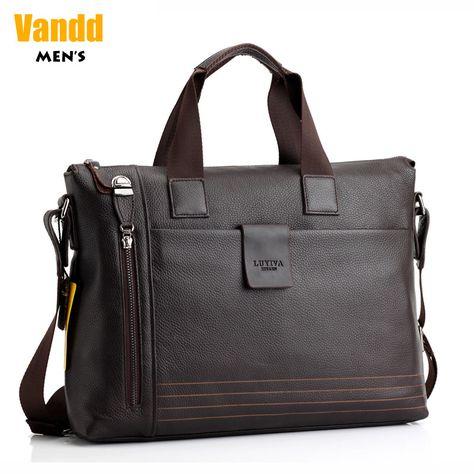 Aliexpress.com : Buy Vandd Men's Brown Genuine Leather Business Briefcase Zip Shoulder Messenger Bag Horizontal Designer Style New from Reliable shoulder bag black suppliers on Vandd Men. $82.00