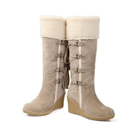 0865313d2a1 Womens Ladies Knee High Army Combat Winter Boots Timbs Lace Up Winter Shoes  Size