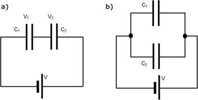 Electrostatics Difference Between Parallel And Series Capacitors Physics Stack Exchange Capacitors Inductors Parallel