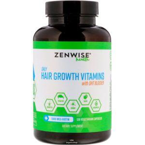 Vitaminy Dlya Rosta Volos Zenwise Health Daily Hair Growth Vitamins With Dht Blocker Usa Organicshop Vitamins For Hair Growth Growth Vitamins Hair Growth
