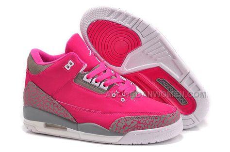 e372bd17c9e2 Women Air Jordan 3 Girls Size Pink Grey Cheap