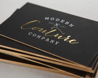 Rose Gold Foil 250 Business Cards Luxury Business Cards Foil Business Cards Gold Business Card