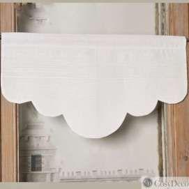Surréaliste Cantonnière Lin Blanc Décoration Feston Chic lin et Coton pour OR-47