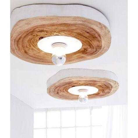 Lamps Wooden Disc Diy Via Impressionen Holzleuchte Lampen Decke