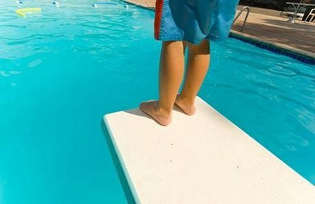 Understand how swimming pool diving boards, platforms, and flexible ...