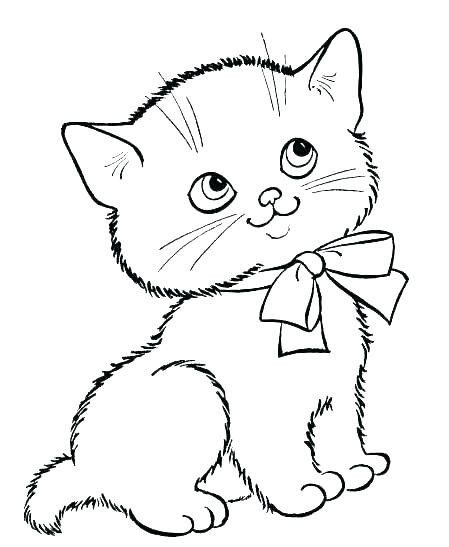 Cute Kitten Coloring Pages Cute Kittens Coloring Pages Coloring Home In 2020 Kitten Drawing Kittens Coloring Puppy Coloring Pages