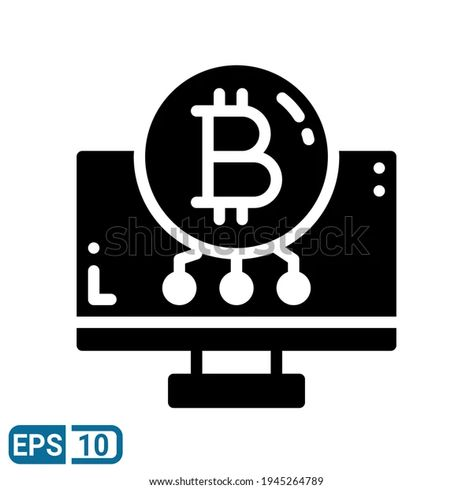 Bitcoin Icon Solid Style Isolated On Stock Vector (Royalty Free) 1945264789