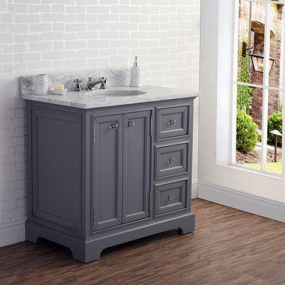 Three Posts Margene 36 Single Bathroom Vanity Set Single Sink