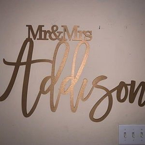 Word Cut Out Large Word Large Custom Wood Signs Last Name Sign Wedding Backdrop Signs Laser Cut Name The Last Name Wood Sign