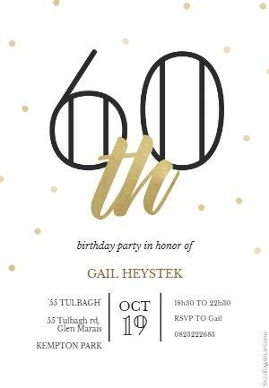 Pin On 60th Birthday Invitations