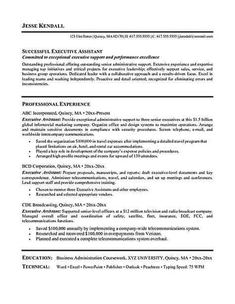 Administrative assistant resume sample will showcase - broadcast assistant sample resume