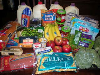 How To Shop For Groceries With $50.00 (2 adults& 2 children). Meal plans, grocery lists and lots of frugal ideas. Pin now, read later for ideas...