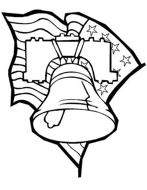 Liberty Bell Flag Day Coloring Pages Download Print Online