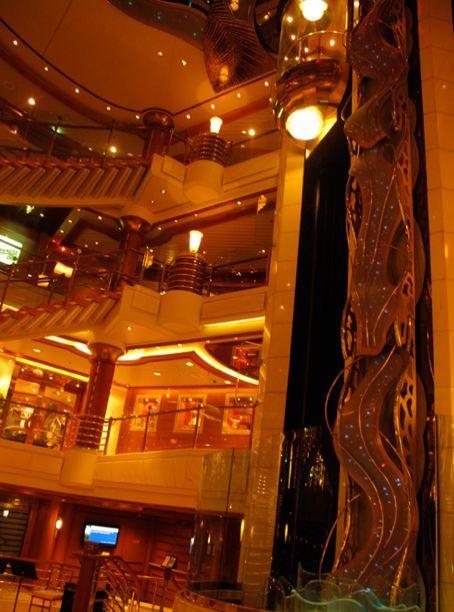 lobby on the Island Princess ship http://thetravelpresse.com/panama-canal-cruise-day-one/