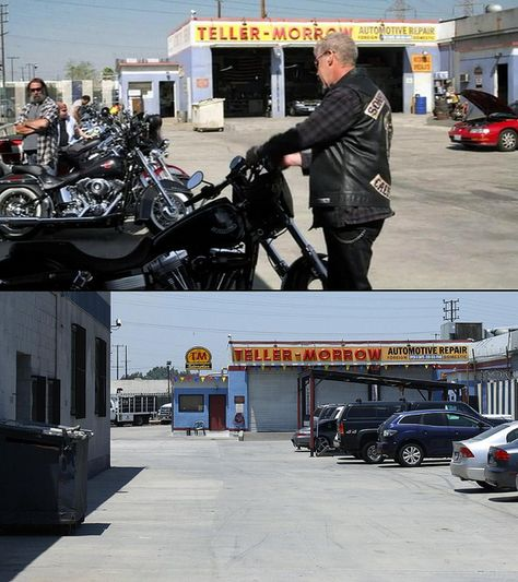 The crown jewel of all the SOA locations is the Teller-Morrow Repair Shop. Description from flickr.com. I searched for this on bing.com/images