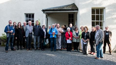 The tour party at the Drumquin Old Rectory in Omagh get ready to set out for their free tour for EHOD!