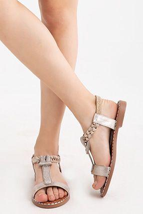 Tasli Sandalet Sandalet Bayan Ayakkabi Kadin Giyim