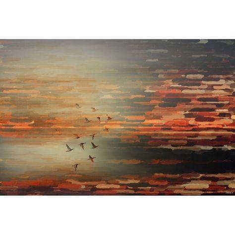 Luxe canvas print Night Flight II, multicolour, 61 x 91 cm